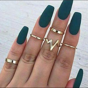 Edgy Midi-Knuckle Rings